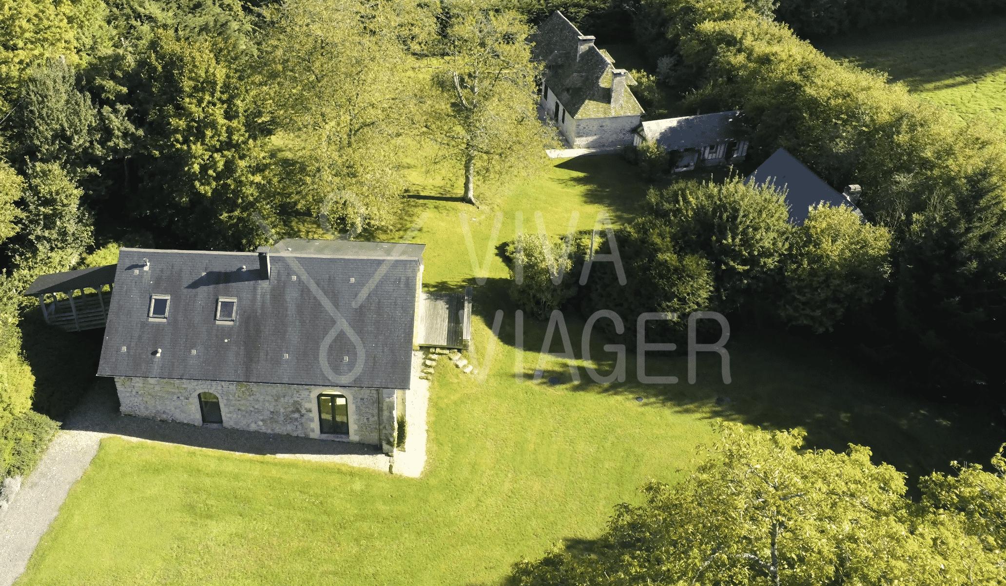 Propriété Normandie, ensemble de 3 maisons - Nue-propriété Cambremer (Calvados)