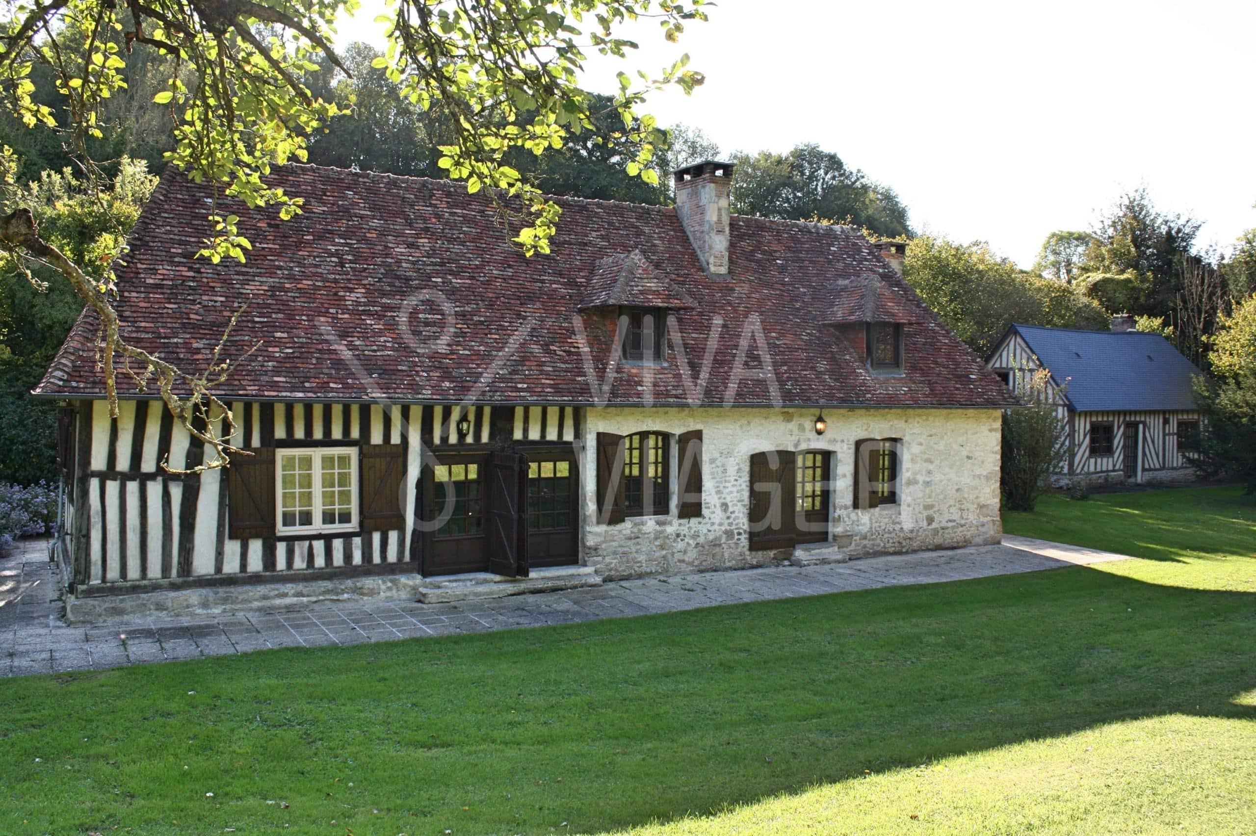 Propriété Normandie, ensemble de 3 maisons – Nue-propriété Cambremer (Calvados)